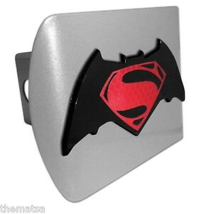 Superman S Batman Emblem Bat Brushed Chrome Metal Usa Made Trailer Hitch Cover