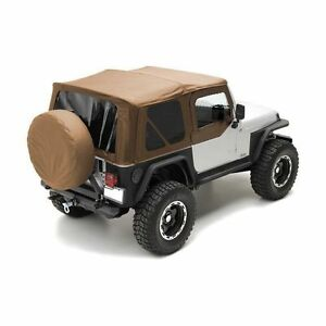 1997 2006 Jeep Wrangler Spice Replacement Soft Top Tinted Windows Kit 9970217