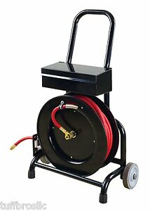 Shop Tuff Air Hose Reel Cart With Tool Box 3 8 X 50 Hose Included Stf 3850fhtb