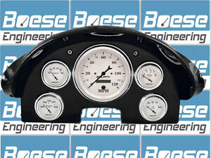 1956 Ford Fairlane Gauge Adapter Rings Kit W Auto Meter Old Tyme White Gauges