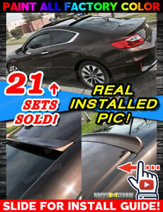 2013 Painted For Honda Accord 9th Gen 2d Coupe Pur Rear Roof Spoiler