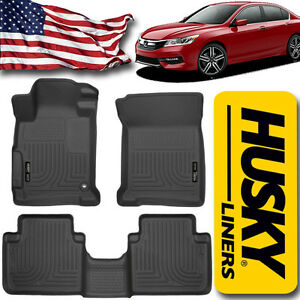 Floor Mats Liners 2013 2017 Honda Accord Weatherbeater Front And Rear Set 98481