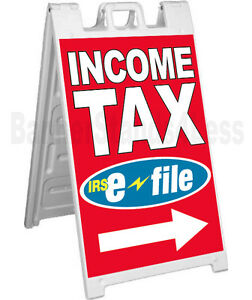 Income Tax E file A frame Sign Sidewalk Signicade Pavement Sign Rb
