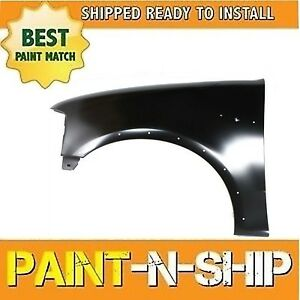 New Fits 2000 2001 2002 Ford Expedition W Holes Left Fender Painted Fo1240192