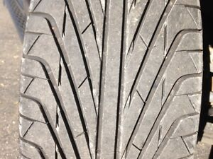 Set Of 4 Like New Triangle 305 35r24 Tires Rims With 90 Tread Still On Tires
