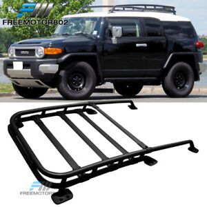 For 07 14 Toyota Fj Cruiser Oe Factory Style Black Aluminum Roof Rack Top Cargo