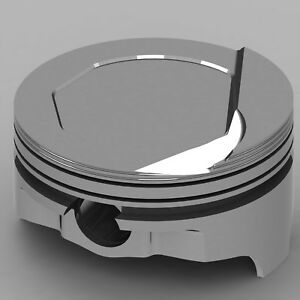 Icon Forged Piston Set Ford 377c Rod 6 125 Step Dish 24cc 1v Or 402c Rod 6 000