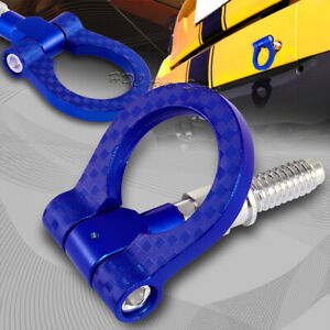 For Bmw Blue Aluminum Front Or Rear Carbon Fiber Look Racing Tow Hook Anodized