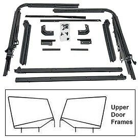 1988 1995 Jeep Wrangler Replacement Factory Soft Top Hardware With Upper Doors