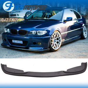 Fit 99 06 Bmw E46 3 Series 4dr H Style Front Bumper Lip For Pp M Bumpers Only