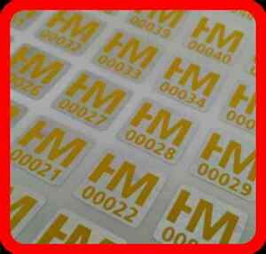 Your Yellow Print On 2000 Hologram Labels Void Warranty Tamper Seal 10x10mm