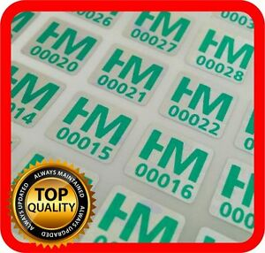 Your Green Print On 1500 Hologram Labels Void Warranty Tamper Seal 10x10mm