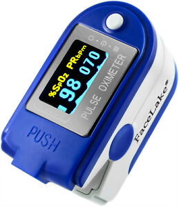 Cms 50d Plus Fingertip Pulse Oximeter Blood Oxygen Monitor Blue Fda Us Seller