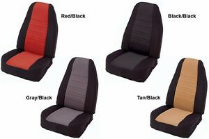 Custom Made Smittybilt Neoprene Front Rear Seat Covers 1997 2002 Jeep Wrangler