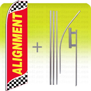 Alignment Swooper Flag 15 Kit Feather Flutter Tall Banner Sign Checkered Rb