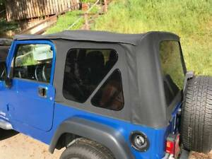 1997 2006 Jeep Wrangler Black Soft Top And Rear Tinted Zippered Windows