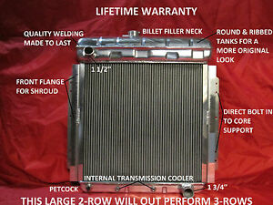 1953 1954 1955 1956 Ford Pickup Truck F 100 Aluminum Radiator With Chevy Motor