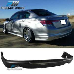 For 11 12 Honda Accord Sedan 4dr Oe Style Rear Bumper Lip Spoiler Polypropylene