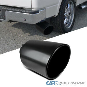 8 Outlet 4 Inlet Black Stainless Steel 15 Long Bolt On Diesel Exhaust Tip