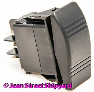 3 Position 6 Terminal Dpdt Carling Contura Rocker Switch Mom on off mom on 12941