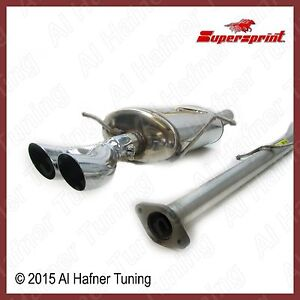 Mini Cooper R50 02 06 Supersprint Exhaust Kit With Dtm Tips 3 Pieces