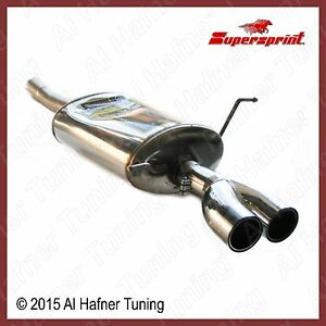 Mini Cooper R50 02 06 Supersprint Muffler With Round Tips 2 Pieces