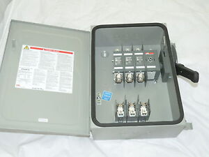 Abb Safety Switch 3p 30a 600v Fusible Heavy Duty N1 Eoh361k New