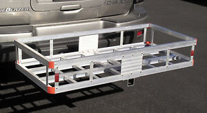 Aluminum Car Truck Rv Suv 2 Hitch Mount Cargo Water Tank Luggage Carrier Hauler