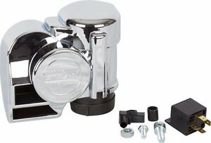 Stebel Nautilus Loud Electric Air Horn Kit For Motorcycle Chrome 12 Volt Italy