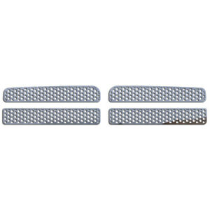 Grille Insert Guard Circle Punch Polished Stainless Fits 94 01 Dodge Ram 1500