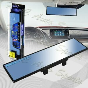 Broadway 270mm Wide Flat Interior Clip On Rear View Blue Tint Mirror Universal 5