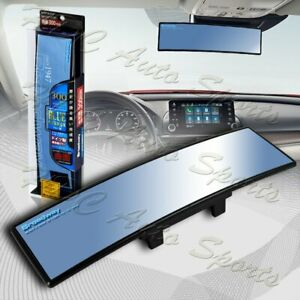 Broadway 300mm Convex Interior Clip On Rear View Blue Tint Mirror Universal 2