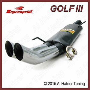 Vw Golf 3 Supersprint Muffler 93 99 323666