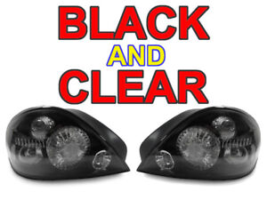 Depo Crystal Black Clear Rear Tail Lights For 1999 2004 Pontiac Grand Am Gt Se