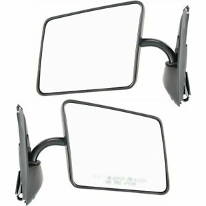 New Mirrors Set Of 2 Driver Passenger Side Chevy Olds S 10 Blazer Jimmy Pair