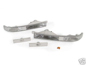 Depo Clear Bumper Front Side Marker Lights For 1987 1988 Toyota Supra Mk 3 Iii