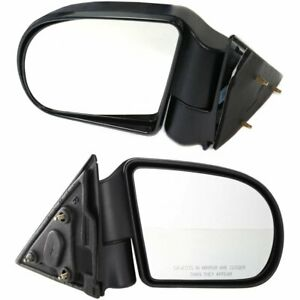 New Set Of 2 Mirror Left Right Side S10 Pickup Chevy Olds Textured Black Pair