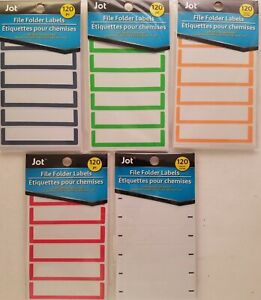 File Folder Labels Color Coded Self Adhesive