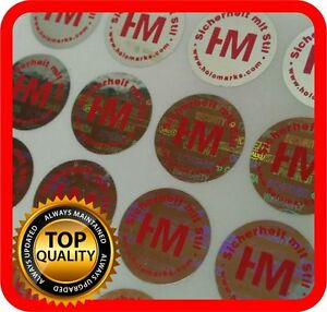 Your Red Print On 1000 Hologram Labels Void Warranty Tamper Seal Round 15mm