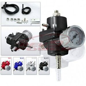 Fuel Pressure Regulator With Gauge Black