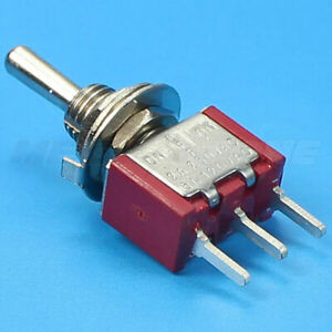 1 Spdt Mini Toggle Switch On off on Pcb mount High Quality Usa Seller
