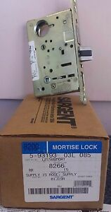 Sargent 8266 Mortise Lock Rr Handed With Hammered Brass Finish Trim Levers