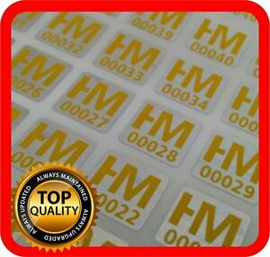 Your Yellow Print On 3000 Hologram Labels Void Warranty Tamper Seal 10x10mm