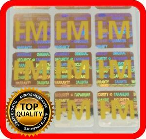 Your Yellow Print On 2000 Hologram Labels Void Warranty Tamper Seal 15x15mm