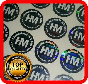 Your White Print On 2000 Hologram Labels Void Warranty Tamper Seal Round 15mm