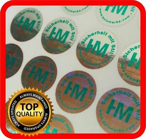 Your Green Print On 2000 Hologram Labels Void Warranty Tamper Seal Round 15mm