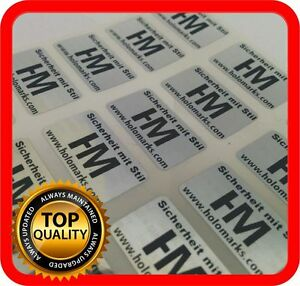 Your Black Print On 2000 Hologram Labels Void Warranty Tamper Seal 21x12mm