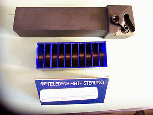 New 1 1 4 Turning Tool Holder left Hand Mtgnl 20 5d With 10 Pcs Inserts