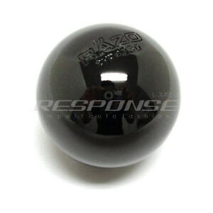 Razo Ra113 Shift Knob Black Chrome Aluminum Round Ball Type 230g Weighted Jdm