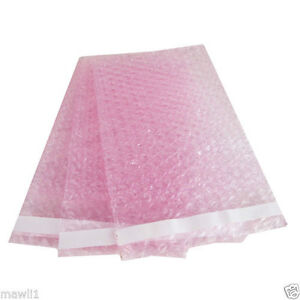 50 New 12 X 15 5 Anti static Pink Bubble Out Bags